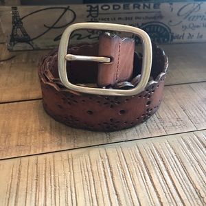 Aeropostale Brown Leather Belt. Small.
